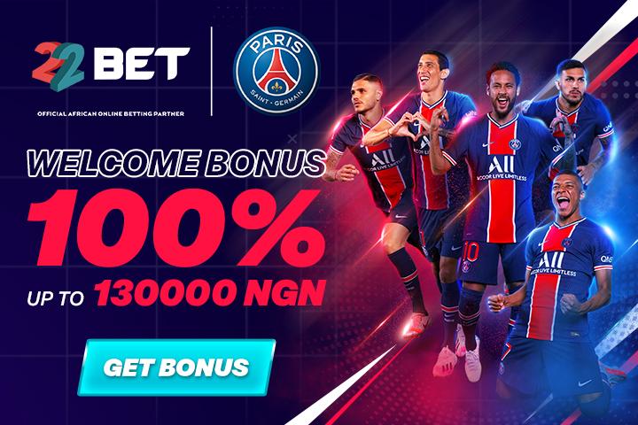 22bet Nigeria Welcome Bonus